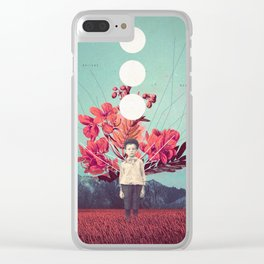 Standing at the Threshold of Time Clear iPhone Case