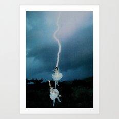 Lightning Dance Art Print