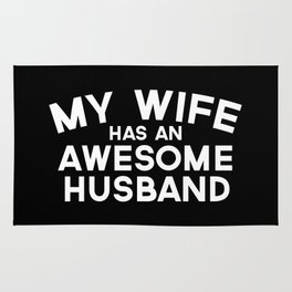Wife Awesome Husband Quote Rug