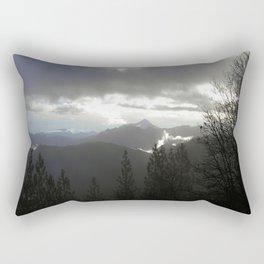 Blue sky in the storm Rectangular Pillow