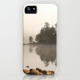 Loch Affric in morning mist iPhone Case