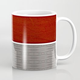 Red And Grey And White Stripe Graphic Offset Pattern Coffee Mug