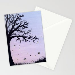 Fireflies and a Tree Stationery Cards