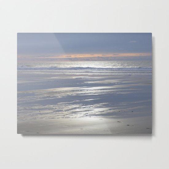 TRANQUIL BEACH WINTER SUNSET CORNWALL Metal Print