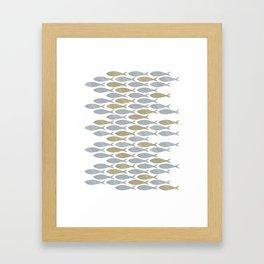 shoal of herring Framed Art Print