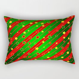 Holiday Season Stars and Stripes  Rectangular Pillow
