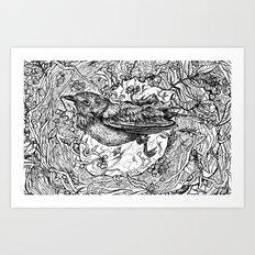 Nest for Heart Art Print