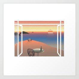 WINDOWS 003: THE COAST Art Print