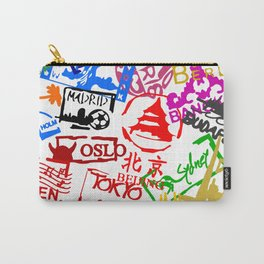 World City Passport Stamps Carry-All Pouch