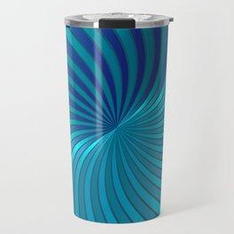Blue Spiral Vortex G213 Travel Mug