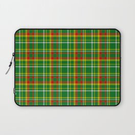 Green Red Yellow and White Plaid Laptop Sleeve