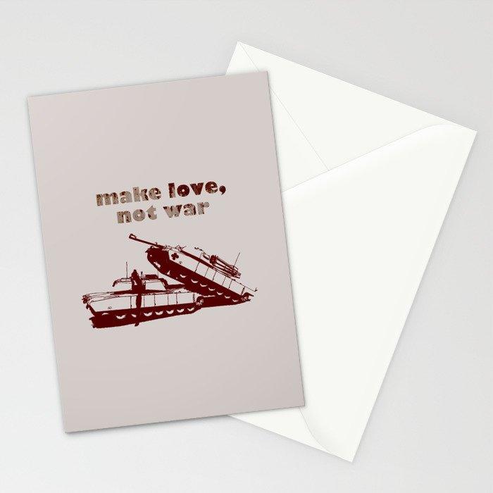 Make love, not war! Stationery Cards