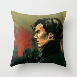 BBC Sherlock Holmes - Benedict Cumberbatch - Painting Print Poster Throw Pillow