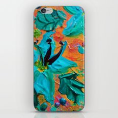 BLOOMING BEAUTIFUL 2 - Modern Abstract Acrylic Tropical Floral Painting, Home Decor Gift for Her iPhone & iPod Skin