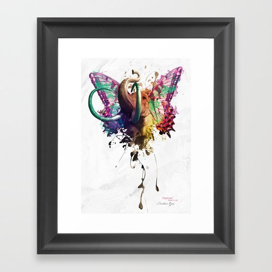 Elephant Need to Fly Framed Art Print