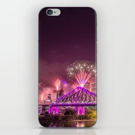 Brisbane riverfire iPhone Skin