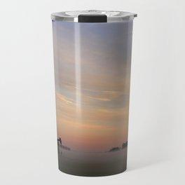 Oil Derrick In Fog Travel Mug