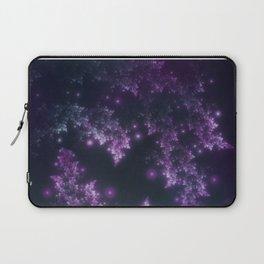 Fractal Leaves Violet Glow Laptop Sleeve