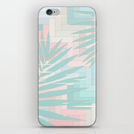 Summer Mood with Chevron and Palms iPhone Skin