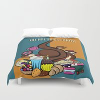 tooth Duvet Covers featuring Sweet tooth by RoyaleWithCheese
