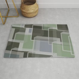 Green Camo Lucite blocks Rug