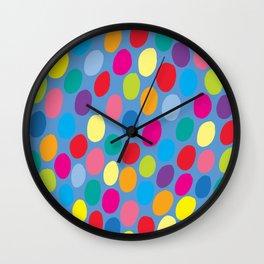 Blue colour color spot pattern Wall Clock