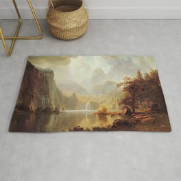 In The Mountains 1867 By Albert Bierstadt | Reproduction Painting Rug