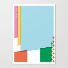 SECRET CYCLING FLAG - PANTANI Canvas Print