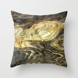 Artistic Natural Stonework Throw Pillow