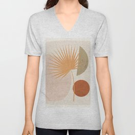 Tropical Leaf- Abstract Art 49a Unisex V-Neck