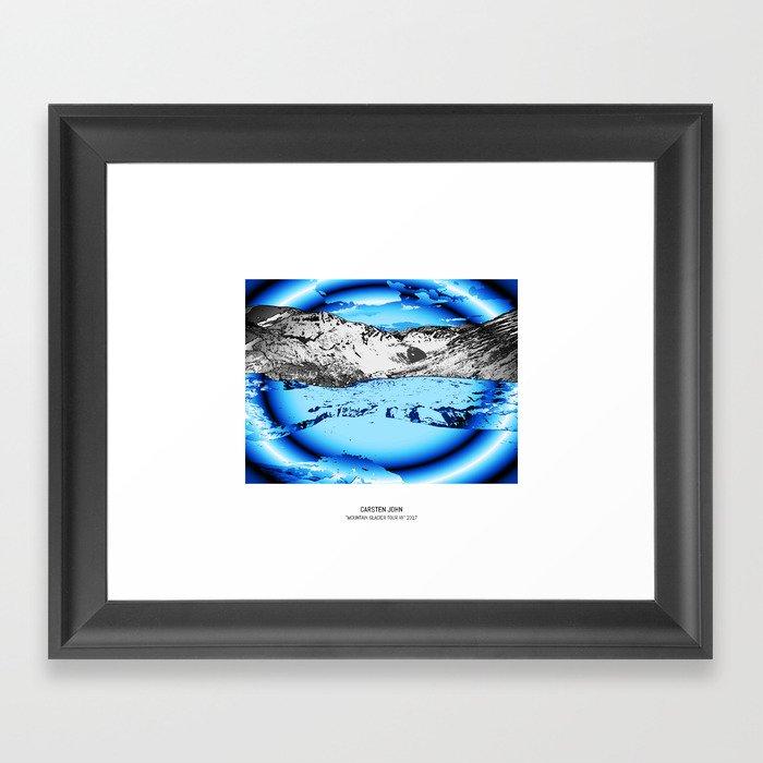 MOUNTAIN GLACIER TOUR VII Framed Art Print