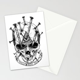 Drive in the Nails by Fred Gonzalez Stationery Cards