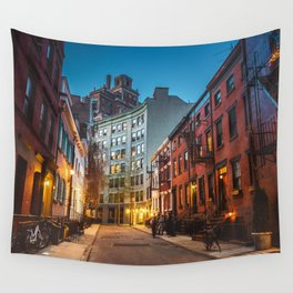 Twilight Hour - West Village, New York City Wall Tapestry