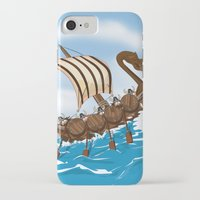 vikings iPhone & iPod Cases featuring The Vikings by Nick's Emporium
