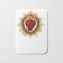 Sacred Heart of Jesus Christ Catholic Blessing Art Hoodie Bath Mat