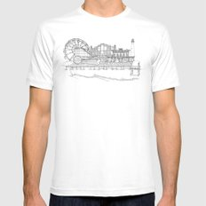 The Jersey Shore by the Downtown Doodler Mens Fitted Tee MEDIUM White