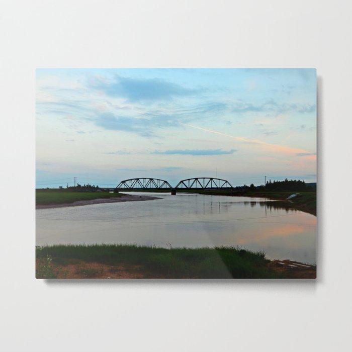 Sackville Train Bridge at Sunset Metal Print