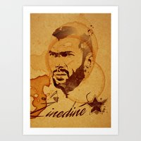 zidane Art Prints featuring Zidane by Colo Design