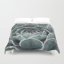Succulent | Blue Cactus Duvet Cover