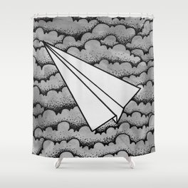 fly like paper Shower Curtain