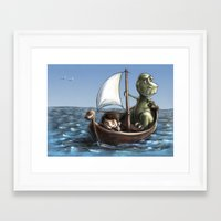 voyage Framed Art Prints featuring Voyage by Allan McInnes