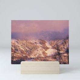 Rocky Mountain near the ski resort of Snowmass Village Colorado - Mini Art Print