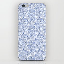 Cetacea in Blue and White iPhone Skin