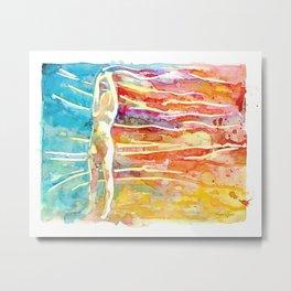 Rainbow Wind Metal Print