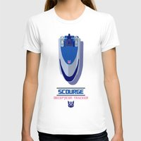 transformers T-shirts featuring TRANSFORMERS - Scourage: Decepticon Tracker by komatosekosmonaut
