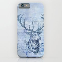 Joy to the world Christmas deer iPhone Case