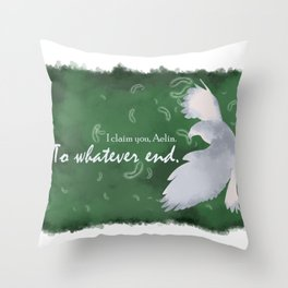 To Whatever End (Green) Throw Pillow
