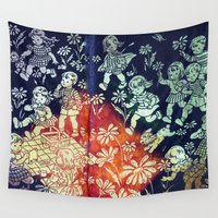 kids Wall Tapestries featuring kids by Shelby Claire