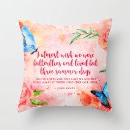 Three summer days Throw Pillow