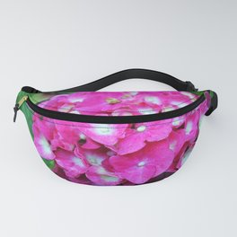 Pink Hydrangea With White Center Fanny Pack